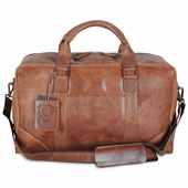 Corium Chesterfield Cognac Weekendbag i Skinn - 26 L