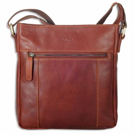 The Monte Vintage Cognac Shoulder Bag in Calf Skin 2.8 L