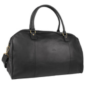The Monte Vintage Weekendbag i Svart Kalvskinn - 33 L