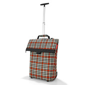 Reisenthel Glencheck Red Trolley M / Shoppingvagn - 43 L
