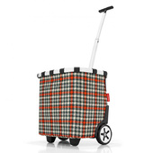 Reisenthel Glencheck Red Shoppingvagn Carrycruiser 40 L